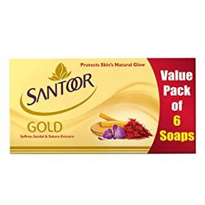Santoor Gold Soap 125g (Pack of 6)