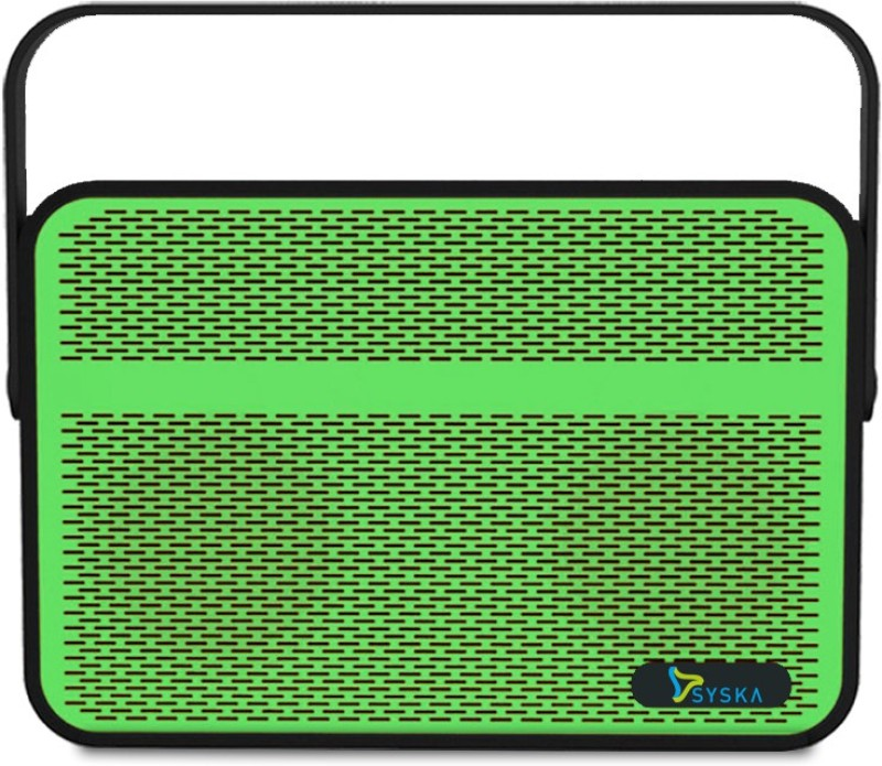 Syska BLADE 5 W Portable Bluetooth Mobile/Tablet Speaker(Green, Stereo Channel)