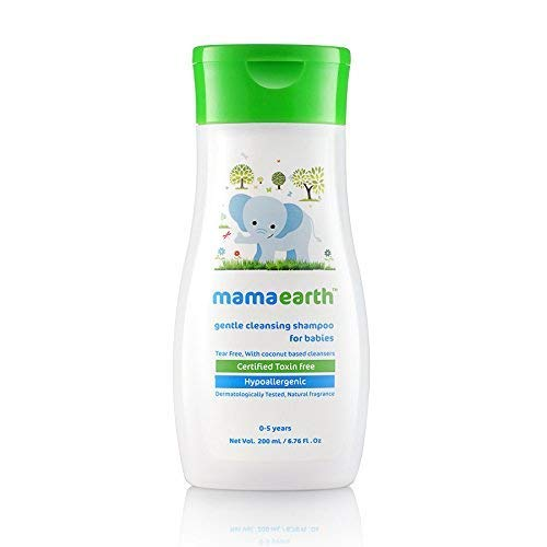 Mamaearth Gentle Cleansing Baby Shampoo : New borns, babies and kids (0-5 Years).200ml