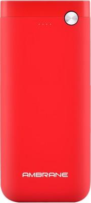 Ambrane 20000 mAh Power Bank (Fast Charging, 10 W)(Red, Lithium Polymer)