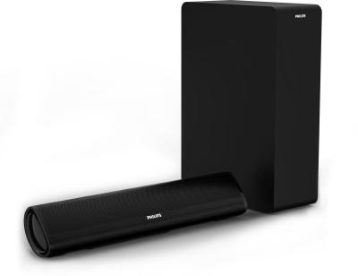 Philips HTL2060/94 60 W Bluetooth Soundbar(Black, 2.1 Channel)